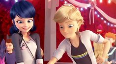 As sad as I am to say this, I don't think Adrien truly wants to dance with Marinette. I think that maybe he's helping Kim to impress Chloe and Adrien is helping him. Ladybug E Catnoir, Ladybug Und Cat Noir, Ladybug Comics, Thomas Astruc, Marinette Et Adrien, Adrien Agreste, Miraculous Ladybug Memes, Star Vs The Forces, Kids Shows