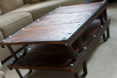 coffee table - made from vintage industrial pallet