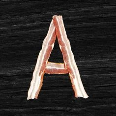Do you feel #hungry? Then this is the right time to try a new dish in #handmadefont menu - the Bacon Font! It will make your mouth water! View more delicious #alphabets  at handmadefont.com #bacon #tasty #delicious #handmadefont