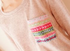 fair isle pocket- this would be a really great way for me to learn and get good at Fairisle knitting.