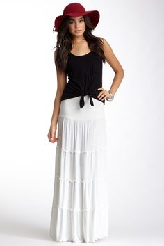 Barefoot Tiered Skirt by Lucy Love on @HauteLook