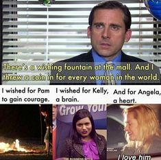 I wished for Pam I wished for Kelly, And for Angela, vo gain courage in brain q heart - iFunny :) Best Of The Office, The Office Show, Office Tv, Really Funny Memes, Stupid Funny Memes, Funny Relatable Memes, Funny Stuff, Hilarious, Office Jokes