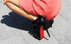 Christian Louboutin. That red sole always ignites a spark!