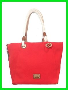 Michael Kors 'Marina' Large Canvas Grab Bag w Anchor Detail, Mandarin - Shoulder bags (*Amazon Partner-Link)