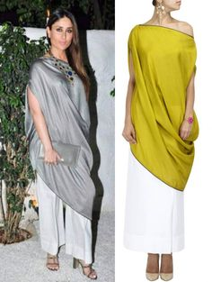 GET THIS LOOK We absolutely love how Kareena Kappor graces herself in this ethereal outfit by by perniaspopupshop Western Dresses, Indian Dresses, Indian Outfits, Abaya Fashion, Indian Fashion, Fashion Dresses, Indian Designer Outfits, Designer Dresses, Designs For Dresses