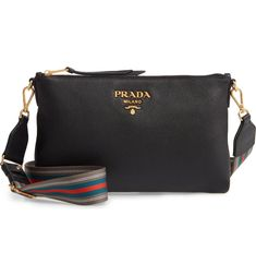 94410de4d05dc9 Free shipping and returns on Prada Vitello Daino Leather Crossbody  Messenger Bag at Nordstrom.com