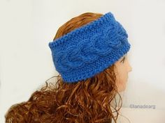 Knitting pattern head band PDF