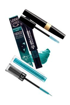 Twinkling Turquoise for dark brown eyes. Pair with a thick wing of black liner and your favorite coral lipstick for a truly statement-making look!