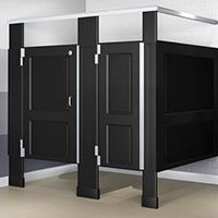 Awesome Commercial Bathroom Install Porcelain Floor Tile - Commercial bathroom stall dividers