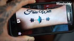 WOW These soundwave tattoos let you immortalize your loved one's voice.