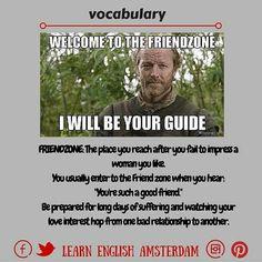 Friendzone, english vocabulary, esl, tesol