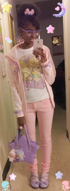 sanriopalace:    Outfit today. 12/22/12. ♥
