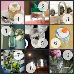 Discover 10 awesome hacks you can do with mason jars. Quick and inexpensive DIYs using mason jars you probably already have on hand. Mason Jar Crafts, Mason Jars, Love Craft, Glass Bottles, Diy Art, Diy And Crafts, Projects To Try, Hacks, Crafty