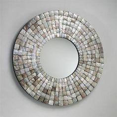 So gorgeous! Mosaic Tile Mirror design by Cyan Design