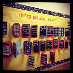 It seems like you make apps out of books you read and add them to your iPhone. I think you could also make the apps be reading strategies skills. Reading Strategies, Reading Skills, Teaching Reading, Reading Comprehension, Teaching Ideas, 6th Grade Ela, 5th Grade Reading, Reading Projects, Book Projects