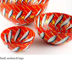 In SA Lucky Star pilchard tin lables have long been used in townships and craft centres as colourful & iconic decorative wall paper or to decorate paper mache bowls. African Love, African Theme, African Design, African Style, Paper Mache Bowls, Paper Bowls, Red Paper, Paper Art, Paper Crafts