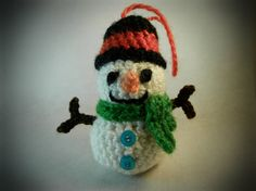 amigurumi crochet stuffed snowman Christmas tree by WiseFriday