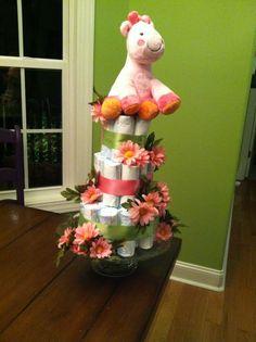 Diaper cake for Braelyn!