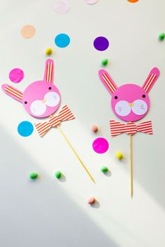 DIY Bow-Tie Bunny Cake Toppers