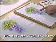 ARTE BRASIL - LUIS MOREIRA - PINTURA EM TECIDO MOLHADO [UVAS] (03/10/2011)