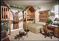 outdoor tree fort style bedroom decorating ideas