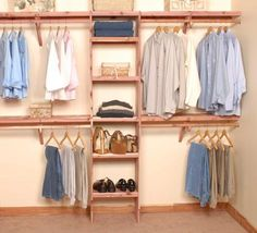 This is a great closet organization DIY project, wonderful for new construction or home remodel. Our Deluxe Ventilated Aromatic Red Cedar Closet Systems come with ventilated shelf assembly (that al (Diy Closet Remodel) Small Bedroom Organization, Closet Organization, Organization Ideas, Storage Ideas, Storage Solutions, Master Closet, Closet Bedroom, Master Bedroom, Closet Wall