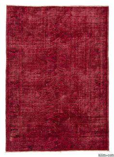Over-dyed Anatolian Vintage Rug 6 x 8.5 $1200