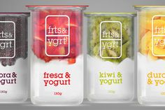 """Actualité / """"frts & ygrt"""", yaourt et fruits à parts égales / étapes: design & culture visuelle"""