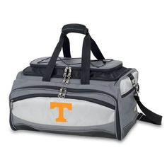 Picnic Time 750-00-175-552-0 Buccaneer University of Tennessee Volunteers Embroidered Cooler and Barbecue Set in Black