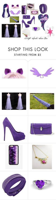 """""""Twilight Sparkle inspired outfit"""" by frootloop16 ❤ liked on Polyvore featuring My Little Pony, Giuseppe Zanotti, Bulgari, Wildflower, Swarovski and Gemvara"""