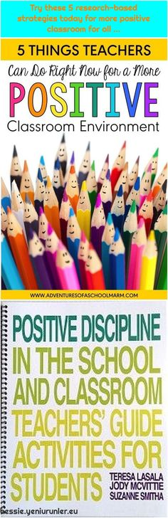 Positive Discipline Classroom Teachers& Guide: Activities for Students Try these 5 research-based strategies today for more positive classroom. Positive Discipline, Classroom Discipline, Classroom Environment, Research, About Me Blog, Positivity, Teacher, Activities, Students