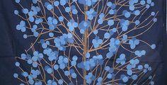 Marimekko Lumimarja - funky vintage scandanavian snowberry blue cotton fabric | eBay