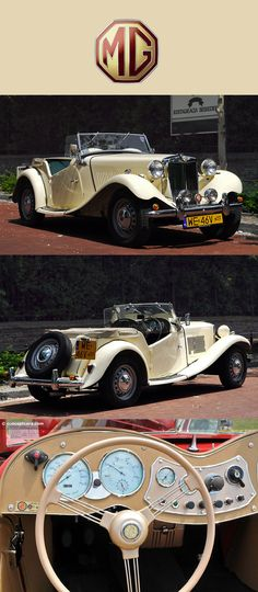 1950 MG TD Roadster there's just something so stunning about a cream colored TD now if only it was cream and crackers.