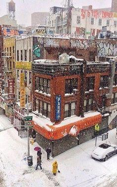 Winter.. Chinatown, New York City, U.S