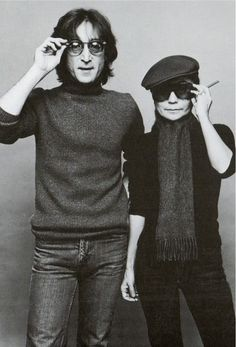 John Lennon and Yoko Ono, 1980.  Photo by NeilFraudstrong