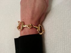 New! Gold Horse Bit Bracelet https://www.etsy.com/listing/204773243/new-large-gold-bit-snaffle-bit-bracelet