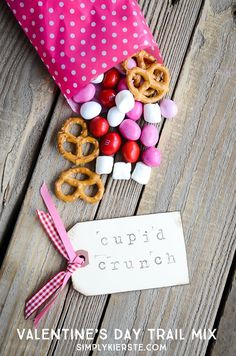 Super easy & yummy, Cupid Crunch Trail Mix is perfect for all your Valentine's Day snacks, including school lunches, class parties, preschool snacks & more!