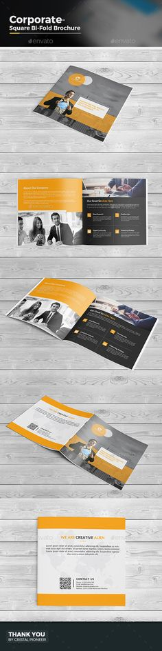 Square Bi Fold Brochure Template Vector EPS, AI. Download here: http://graphicriver.net/item/square-bi-fold-brochure/15233057?ref=ksioks