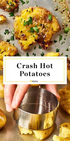 Crash hot potatoes are like a cross between a fluffy baked potato and a greasy, golden french fry. This is wonderful if you need recipes and ideas for delicious and easy side dishes, as perfect for an easy weeknight dinner as they are for holidays like easter, christmas, and new years eve. Like one of the pioneer woman's (ree drummond) popular recipes.