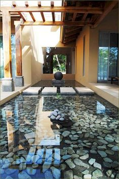 55 Unusual Backyard Pond and Water Feature Landscaping Ideas - Page 54 of 56 Small Backyard Gardens, Backyard Garden Design, Large Backyard, Ponds Backyard, Backyard Landscaping, Landscaping Ideas, Backyard Playhouse, Best Flooring, Patio
