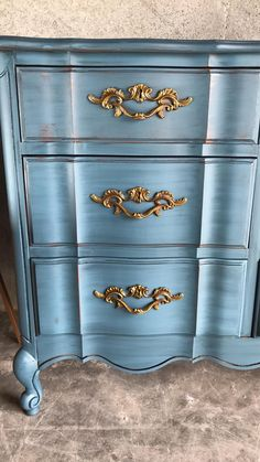 Your CUSTOM French Provincial Dresser/Bedroom Furniture/Painted Furniture/Chalk Paint Furniture/ Dresser/ Blue Dresser Painted Bedroom Furniture, Dresser Furniture, Chalk Paint Furniture, Farmhouse Furniture, Gothic Furniture, Furniture Ideas, Bedroom Dressers, Furniture Sale, Kitchen Furniture