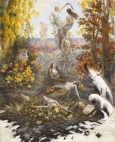 """""""Dance of the Falling Leaves""""  by Torsten Wasastjerna (1897)"""