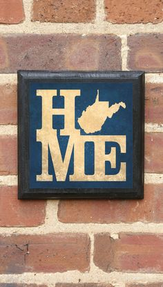 West Virginia HOME Vintage Style Plaque/Sign Decorative & Custom Color on Etsy, $32.00