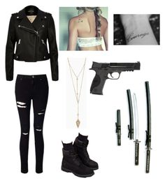"""""""Sans titre #11"""" by hannangels on Polyvore featuring mode, Miss Selfridge, Timberland et Smith & Wesson"""
