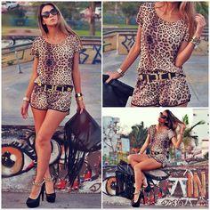 Find More Macacões - Feminino Information about Mulheres leopardo macacão de manga curta moda pano LQ4738,High Quality etiqueta de pano,China loja de pano Suppliers, Cheap tecido homens from FashionAhead on Aliexpress.com