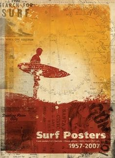 Designspiration — sleepless ink: Vintage Surf Posters, Poster