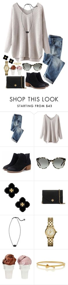"""hiya"" by neanariley ❤ liked on Polyvore featuring Tory Burch, Kendra Scott, Sin, Kate Spade, women's clothing, women's fashion, women, female, woman and misses"