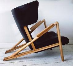 Finn Juhl; 'Grasshopper' Chair by Niels Vodder, 1938.