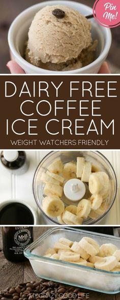 Dairy Free Coffee Ice Cream Recipe | Gluten Free | My Crazy Good Life