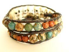 Ethnic Boho Stone Wrap Bracelet